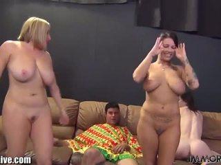 Horny pornstars fucking on webcam