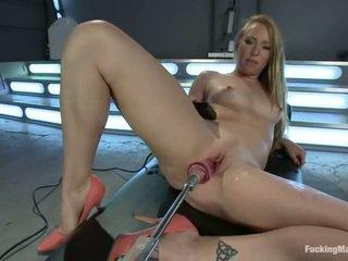 speelgoed seks, gratis fucking machine seks, geschoren kutje porno