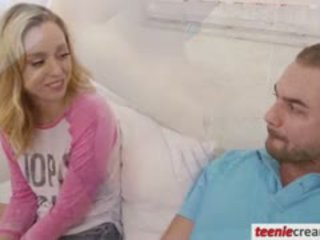 Cute Blonde Teen Girl Lucy Tyler Receives A Warm Creampie