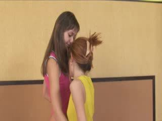 Extremely hot slender ultracute Lesbos