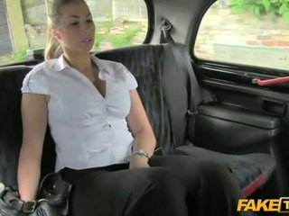 Blonde hot british girl shammed in taxi