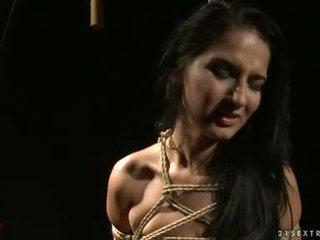 Katy Borman Torment A Hot Honey With Rope On Body