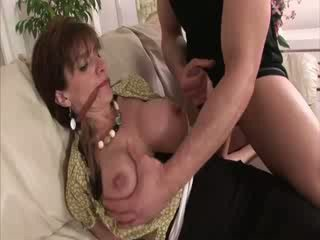 Mature hot busty bitch made to suck cock