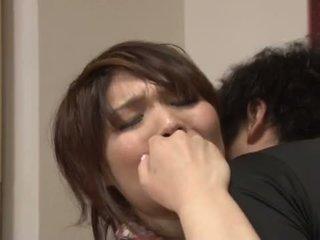 Ασιάτης/ισσα μητέρα που θα ήθελα να γαμήσω gets pounded επί ο κουζίνα τραπέζι