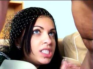 munnsex, ansikts, arab