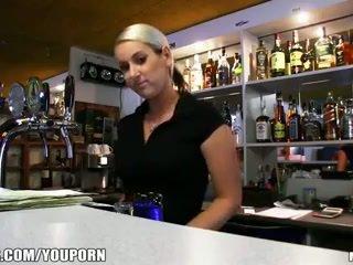 Incredibly חם צ'כית בלונדינית הוא paid ל לקחת a סקס הפסקה ב עבודה