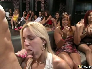 Hot girls take facial loads on their pretty faces in front of friends