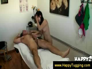 Masseuse in parlor fucks a guy
