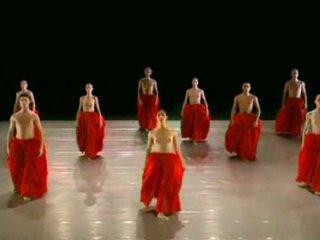 Desnuda bailando ballett grupo