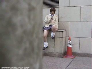 Japans school- meisje pubic haar