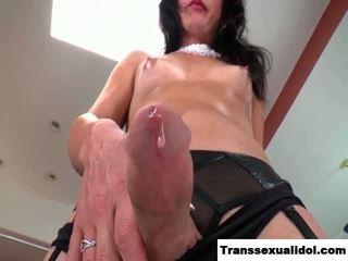 tranny, masturbation, kleine brüste