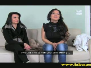 Angela and Anne on casting couch