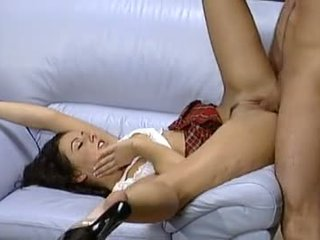 brunette, oral sex, toys