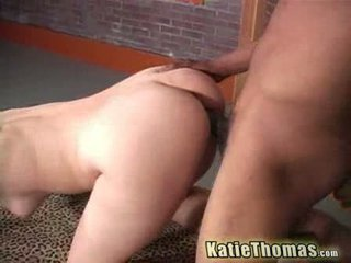 Horny Katie Thomas gets fucked by a black