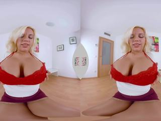 VIRTUAL TABOO - Busty Fesser with Dildo In Her Tight Pussy