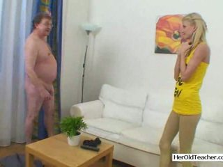 Shy Young Girl Fucked by Old Man