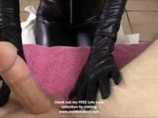 Lelu Love Gives A Full Catsuit Sloppy Blowjob