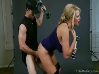 Kelly Madison Promotes The Jack Weight Handjob Exercise