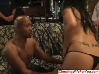 Asian house wife got black cock