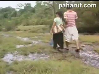 Quente tailandesa sexo em público