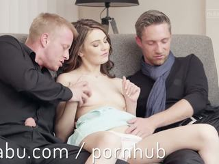 Creampie cutie takes na two cocks