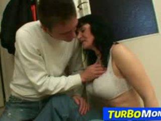 Big Natural Tits Older Woman Agnes Rides Young Boy