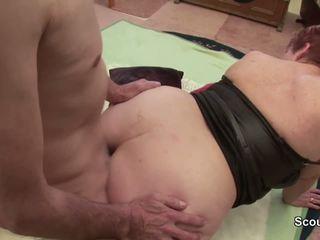 German Grandpa and Grandma Make Porn Casting First Time
