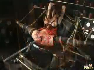 Nasty Asian bitch gets tortured in the dark dungeon