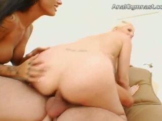 Lesbian Anal Gymnastics with petite Sasha Grey and Alysa