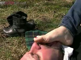 ideaal man, voet thumbnail, vernedering mov