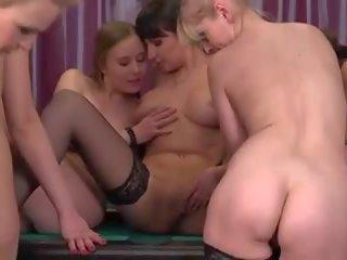 beste groepsseks, mooi lesbisch video-, een volwassen porno