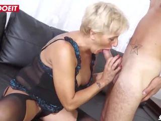 Letsdoeit - Mature Italian Granny Gets Rough Sex at Porn Casting!