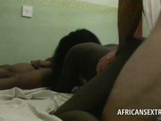 vol interraciale scène, black / ebony, heetste amateur film