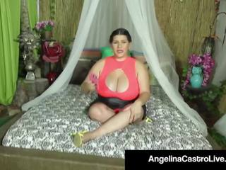 Cuban Queen Angelina Castro gets a Huge Load of Cum on