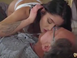 Old Young Porn Teens Share Old Man and Ride His Cock...