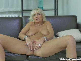 Euro MILF Roxana Furiously Rubs Her Clit, Porn 81