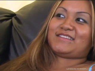 Chunky Ebony Lesbians Licking Tuna Tacos