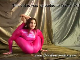 Contortionist Marina Twists Her Body In A Sexy Rubber Bodysuit