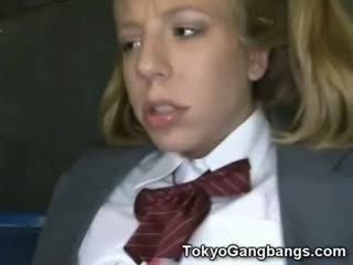 Asian Bus Perverts On White Teen!