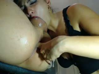 Webcam couple asslick and deep throat
