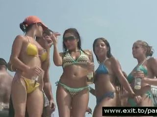 Hundreds At Horny Teens At Public Boat Party