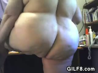 Large Grandma Strips And Masturbates