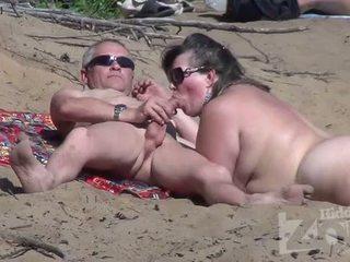 चूसना, दृश्यरतिक, समुद्र तट, blowjob