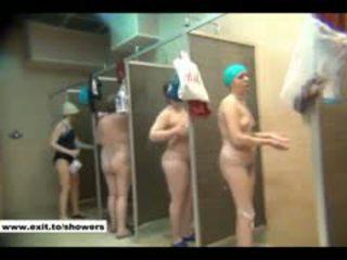 podglądanie, prysznic, publiczny, rosyjski