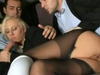 Craving cockschoolgirl Carla Cox is double dicked by a pair of horny shafts