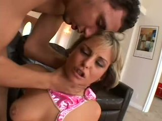 Blondy talks dirty and is ass fucked