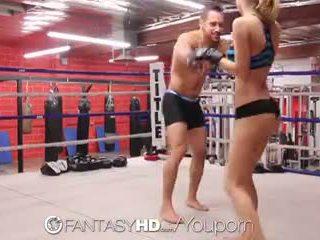 הגדרה גבוהה fantasyhd - natalia starr wrestles שלה דרך ל זיון session