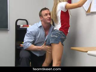 coed, student, shaved