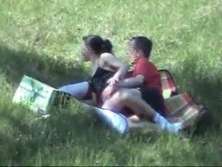 Spy Couple Fuck Outdoor
