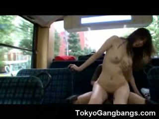 Gangbanged in a Bus!